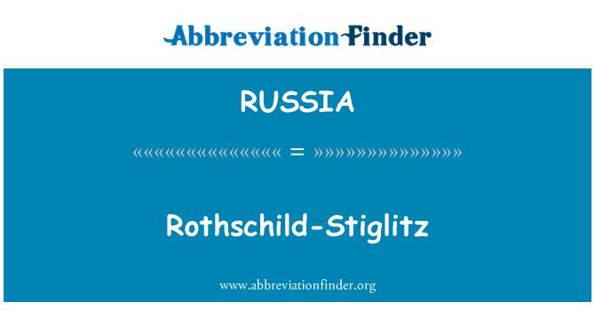 RUSSIA: Rothschild-Stiglitz