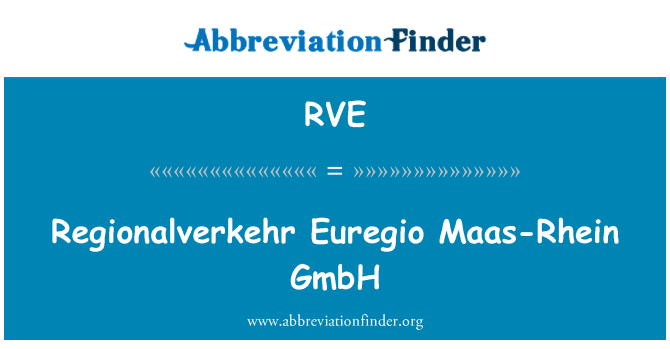 RVE: Regionalverkehr Euregio Maas-Rhein GmbH
