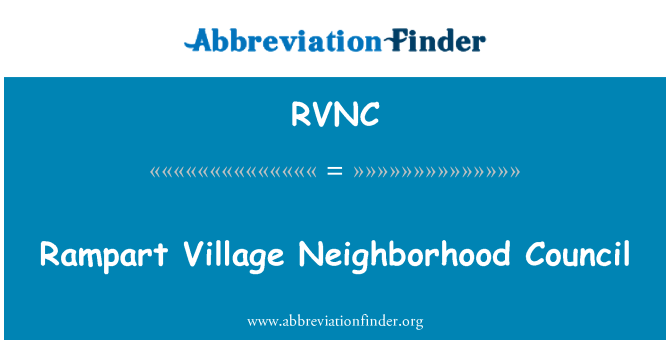 RVNC: Rampart Village Neighborhood Council