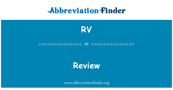 RV: Review