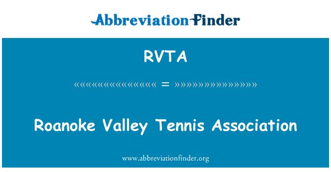 RVTA: Roanoke Valley Tennis Association