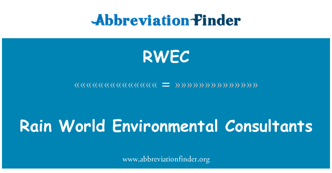 RWEC: Rain World Environmental Consultants