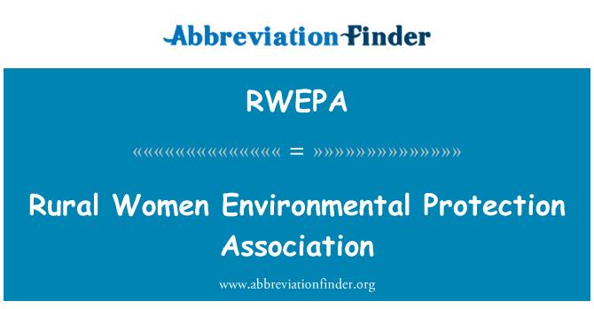 RWEPA: Rural Women Environmental Protection Association