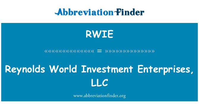 RWIE: Reynolds World Investment Enterprises, LLC