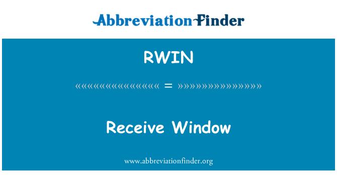 RWIN: Receive Window