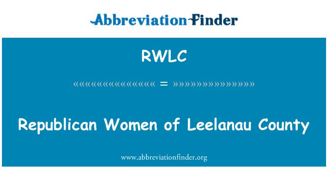 RWLC: Republican Women of Leelanau County