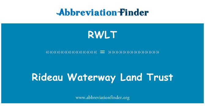 RWLT: Rideau Waterway Land Trust