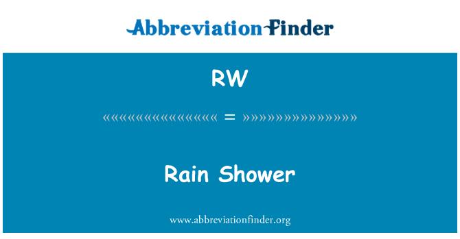 RW: Rain Shower