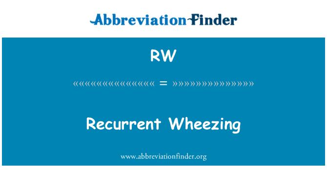 RW: Recurrent Wheezing