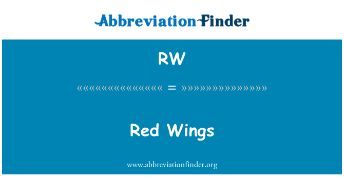 RW: Red Wings