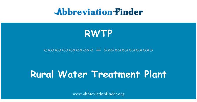 RWTP: Rural Water Treatment Plant