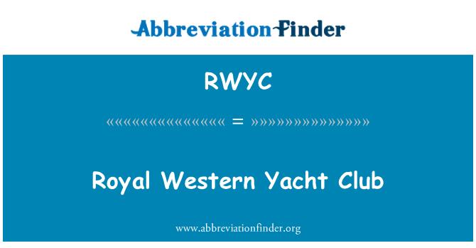 RWYC: Royal Western Yacht Club