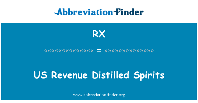 RX: US Revenue Distilled Spirits