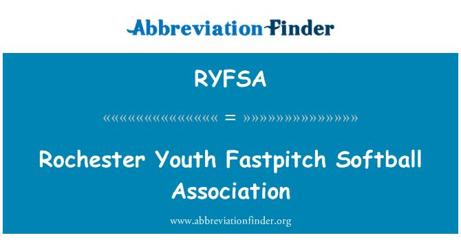 RYFSA: Rochester Youth Fastpitch Softball Association
