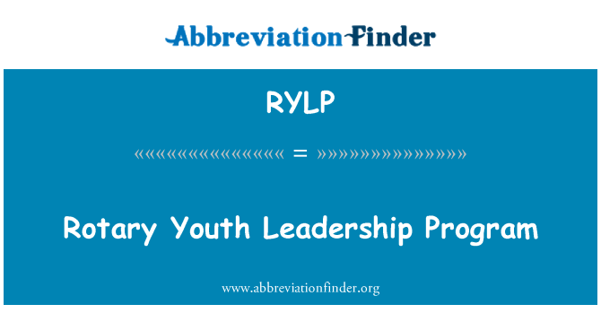 RYLP: Rotary Youth Leadership Program