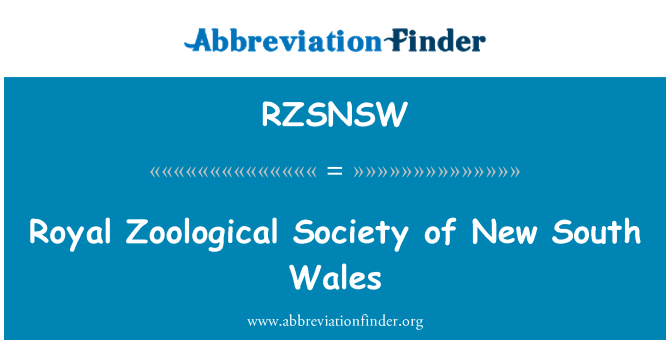 RZSNSW: Royal Zoological Society of New South Wales