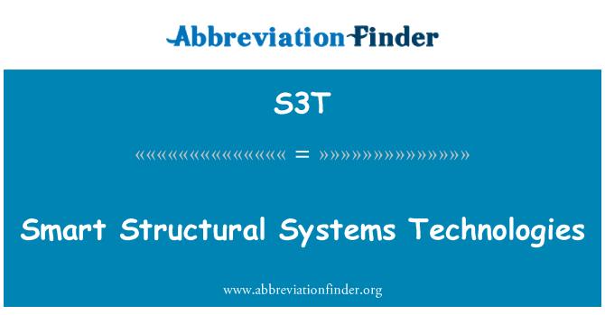 S3T: Akıllı yapısal sistemleri teknolojileri