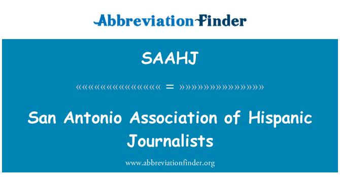 SAAHJ: San Antonio udruženja Hispanjolci novinara