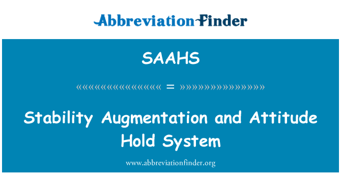 SAAHS: Stability Augmentation and Attitude Hold System
