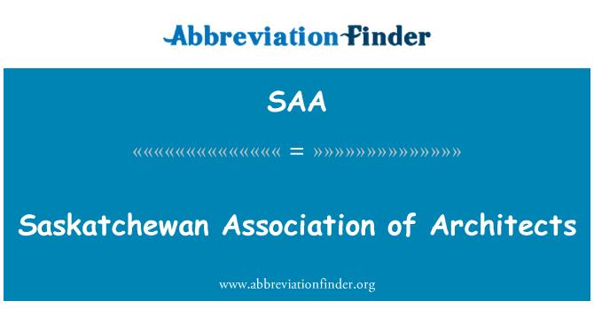 SAA: Saskatchewan Association of Architects