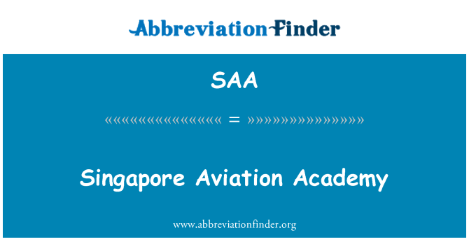 SAA: Singapore Aviation Academy