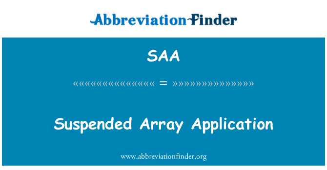 SAA: Suspended Array Application