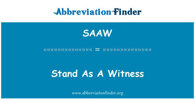 SAAW: Stand As A Witness
