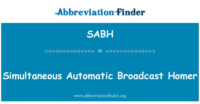 SABH: Automático simultánea emisión Homer