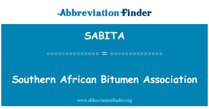 SABITA: Southern African Bitumen Association