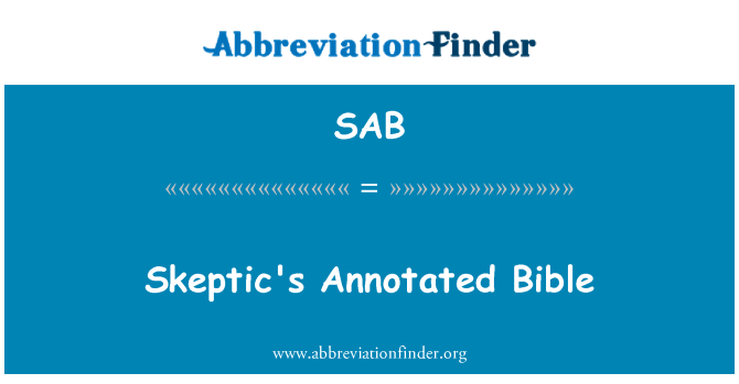 SAB: Skeptic's Annotated Bible