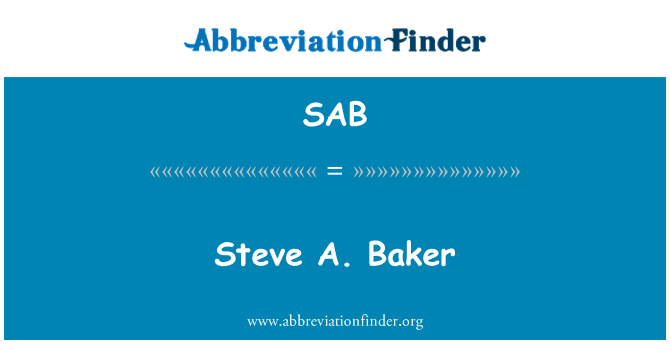 SAB: Steve A. Baker
