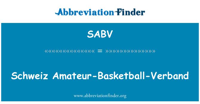 SABV: Schweiz Amateur-Basketball-Verband