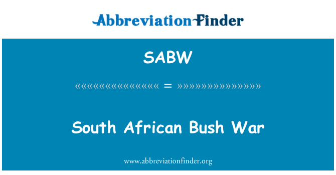 SABW: South African Bush War