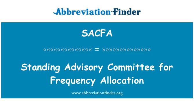SACFA: Danışma Kurulu frekans tahsisi için ayakta