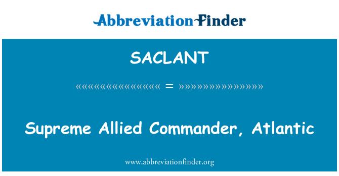 SACLANT: Aliado supremo comandante, Atlántico