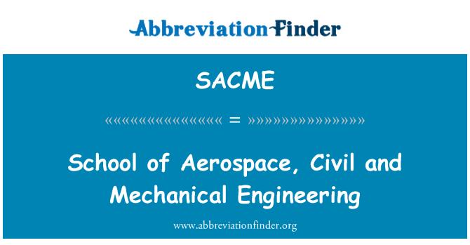 SACME: School of Aerospace, Civil and Mechanical Engineering