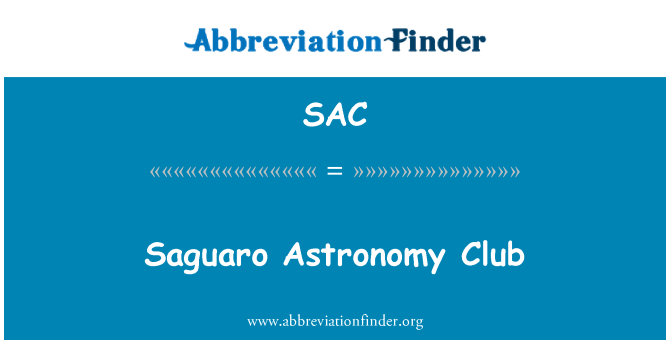 SAC: Saguaro Astronomy Club