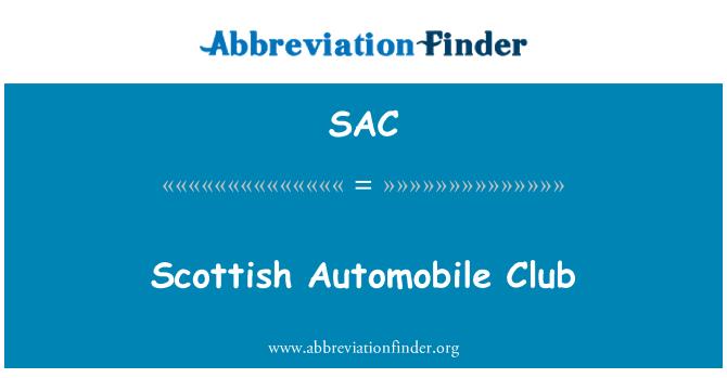 SAC: Scottish Automobile Club