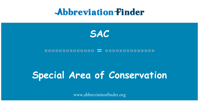 SAC: Special Area of Conservation
