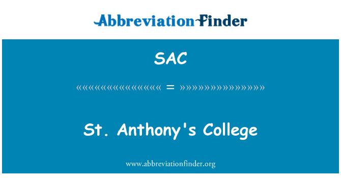 SAC: St. Anthony's College