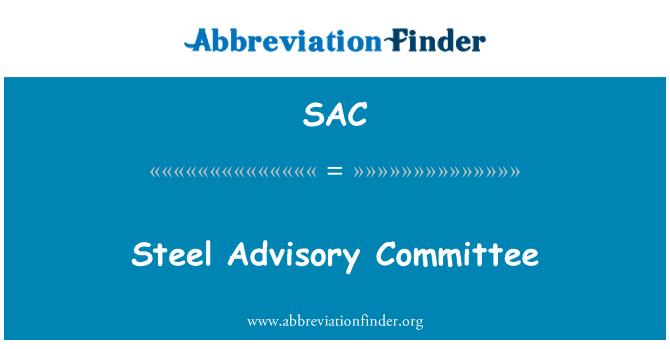 SAC: Steel Advisory Committee