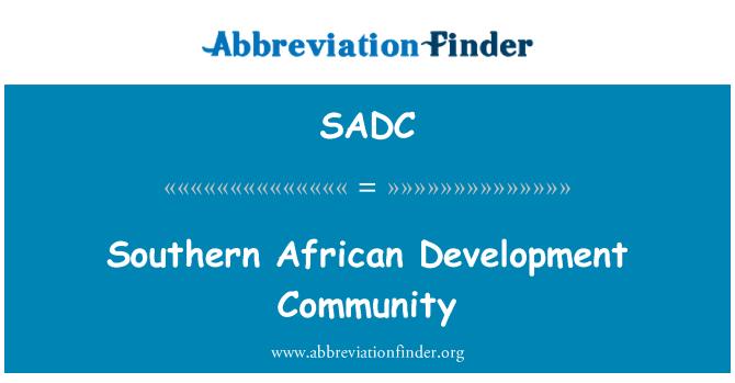 SADC: Southern African Development Community