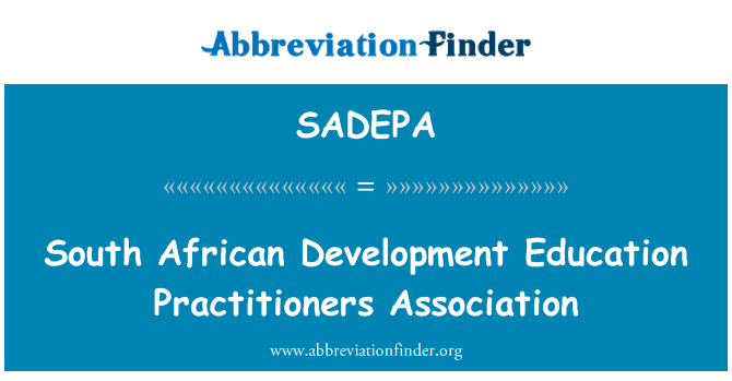 SADEPA: South African Development Education Practitioners Association