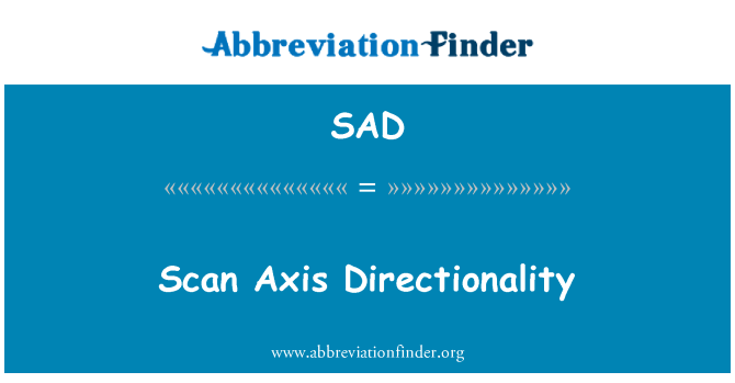 SAD: Scan Axis Directionality