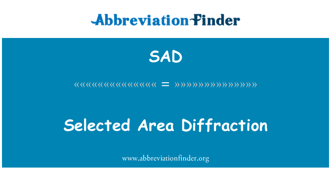 SAD: Selected Area Diffraction