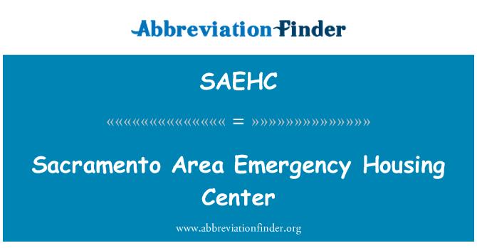 SAEHC: Sacramento Area Emergency Housing Center