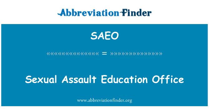 SAEO: جنسی حملے دفتر برائے تعلیم