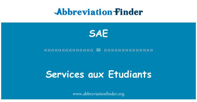 SAE: Services aux Etudiants