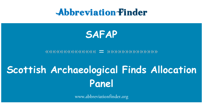 SAFAP: Scottish Archaeological Finds Allocation Panel