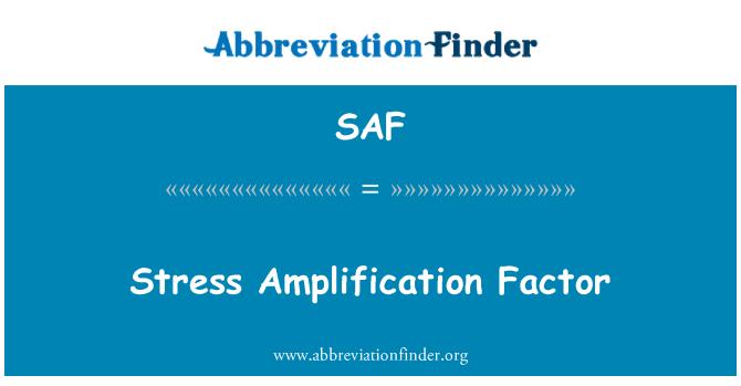 SAF: Stress Amplification Factor